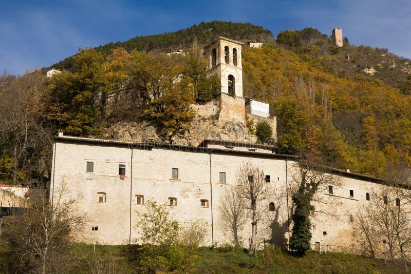 Φωτογραφία Sant& x27 Αβαείο Eutizio σε Valnerina, Ουμβρία στοκ εικόνα