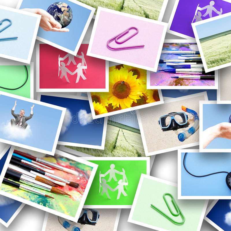 φωτογραφίες κολάζ στοκ εικόνα με δικαίωμα ελεύθερης χρήσης