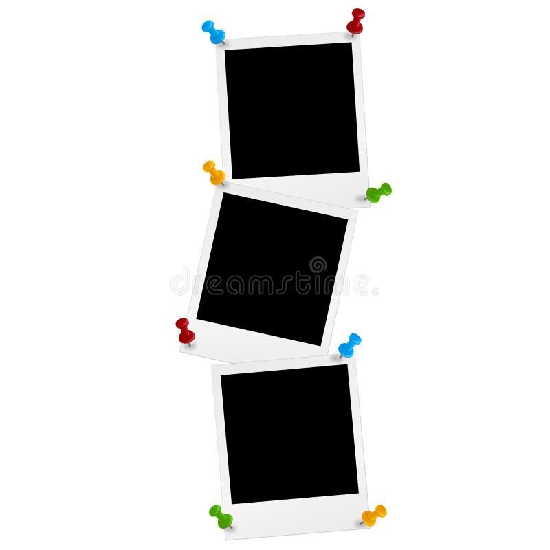 Φωτογραφίες με την καρφίτσα διανυσματική απεικόνιση