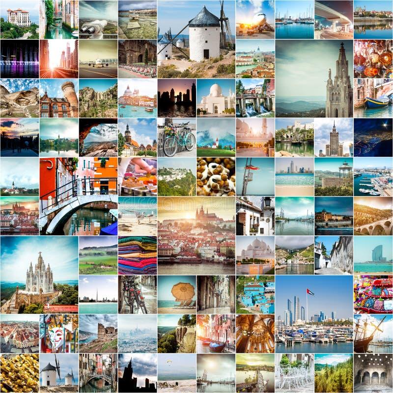 Φωτογραφίες ταξιδιού από τις διαφορετικές πόλεις του κόσμου στοκ εικόνα