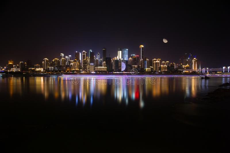 Φωτογραφίες τοπίου ποταμών και πόλεων Yangtze στοκ φωτογραφία με δικαίωμα ελεύθερης χρήσης