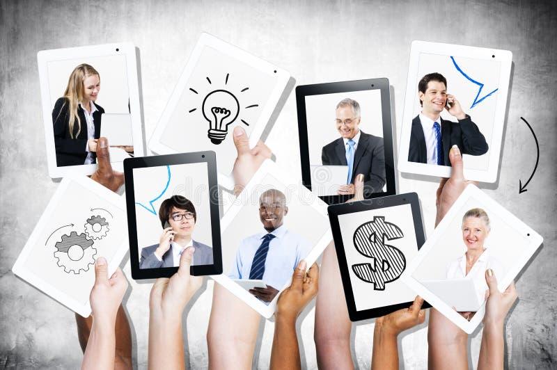 Φωτογραφίες των πολυ-εθνικών επιχειρηματιών στοκ εικόνες