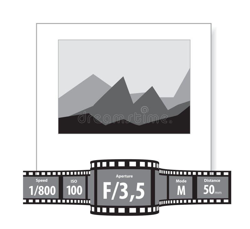 φωτογραφίες χαρακτηριστικών διανυσματική απεικόνιση