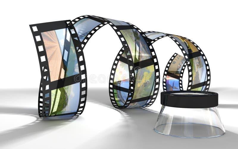 φωτογραφική διαφάνεια ρό&lambd διανυσματική απεικόνιση