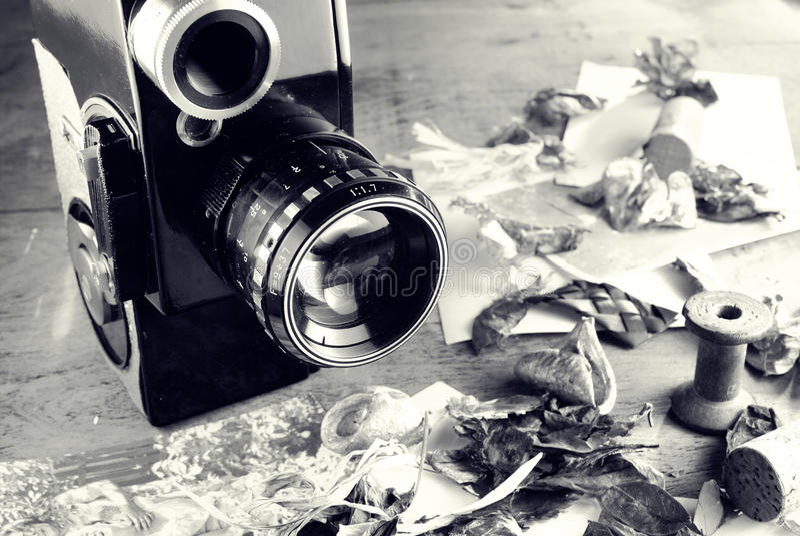 φωτογραφική μηχανή αναδρομική στοκ φωτογραφίες