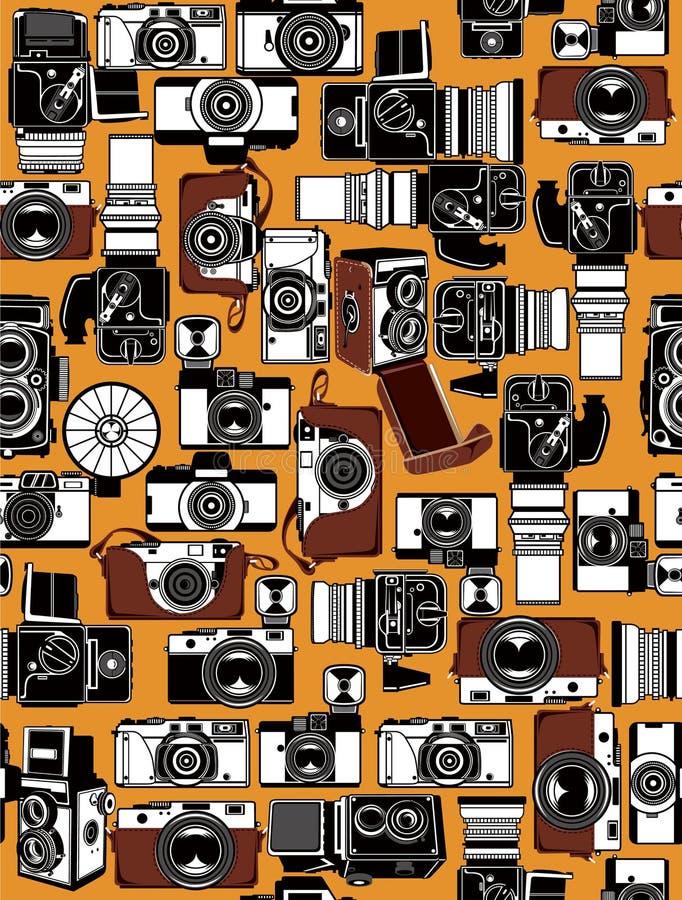 φωτογραφική μηχανή αναδρο διανυσματική απεικόνιση