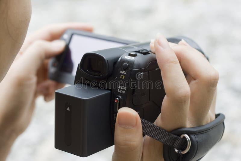 φωτογραφική μηχανή που χρη στοκ εικόνες