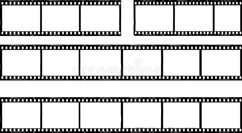 Φωτογραφική ταινία, λωρίδες ταινιών, πλαίσια φωτογραφιών, ελεύθερο διάστημα αντιγράφων, VE απεικόνιση αποθεμάτων