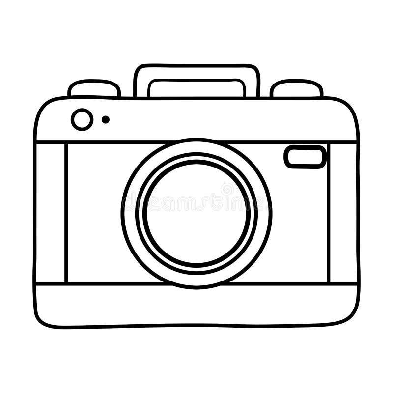 Φωτογραφικό εικονίδιο καμερών γραπτό απεικόνιση αποθεμάτων