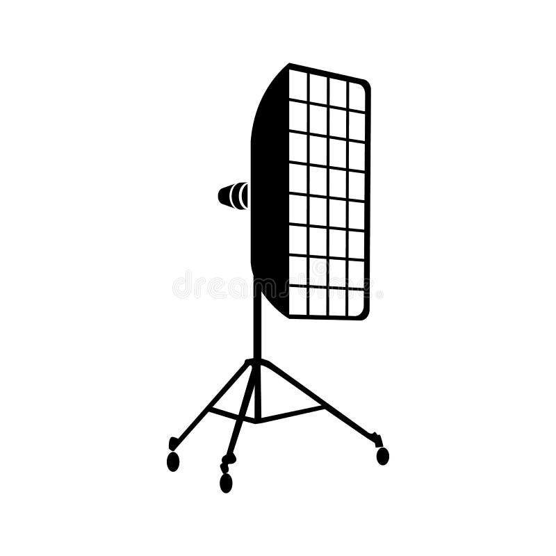 Φωτογραφικό εικονίδιο εξοπλισμού στούντιο, απλό ύφος απεικόνιση αποθεμάτων