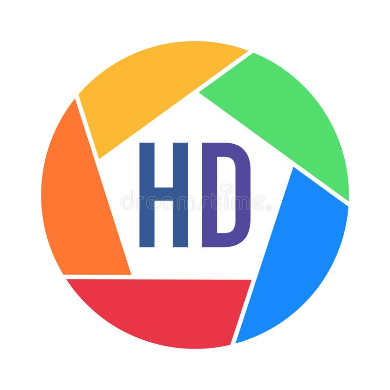 Φωτογραφιών σχήματα που γίνονται τηλεοπτικά στα χρώματα ουράνιων τόξων ελεύθερη απεικόνιση δικαιώματος