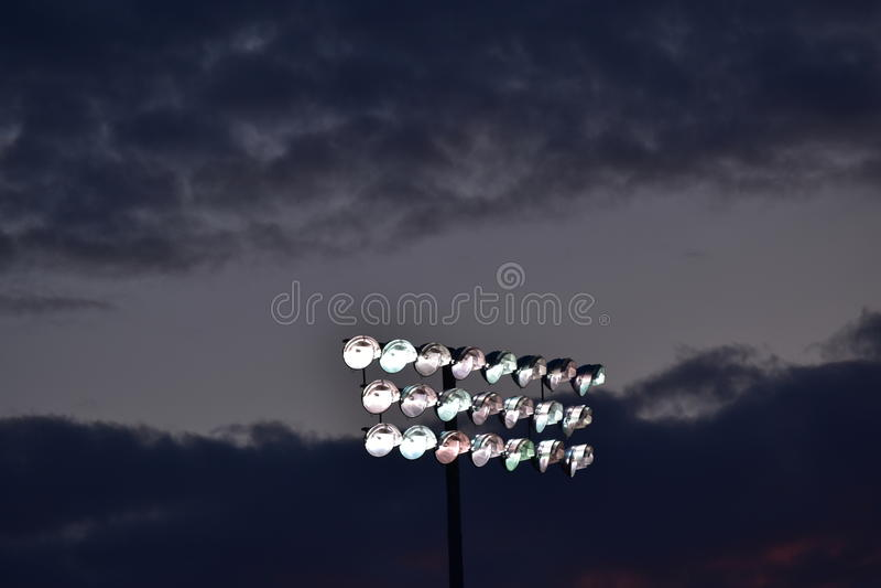 Φω'τα αθλητικών τομέων στοκ εικόνα