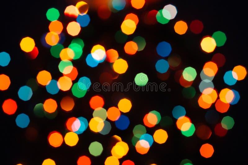 Φω'τα γιρλαντών Χριστουγέννων στοκ εικόνες