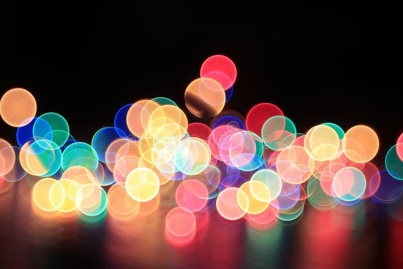 Φω'τα γιρλαντών Χριστουγέννων στοκ φωτογραφίες με δικαίωμα ελεύθερης χρήσης