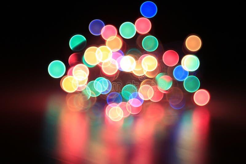 Φω'τα γιρλαντών Χριστουγέννων στοκ φωτογραφίες