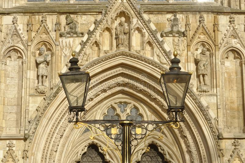 Φω'τα καθεδρικών ναών μοναστηριακών ναών της Υόρκης, βόρειο Γιορκσάιρ, Αγγλία στοκ εικόνες με δικαίωμα ελεύθερης χρήσης