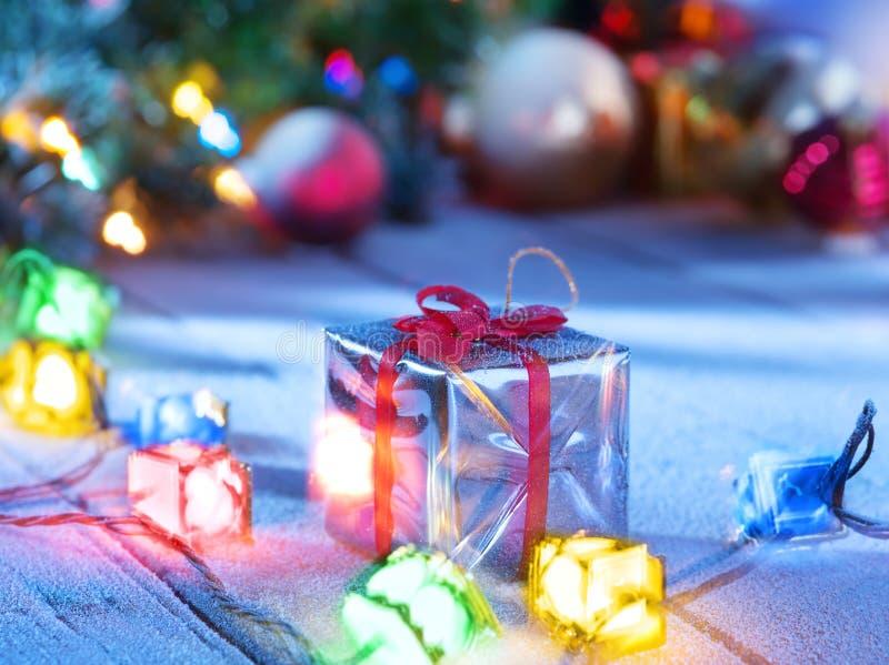 Φω'τα και δώρο στοκ φωτογραφίες