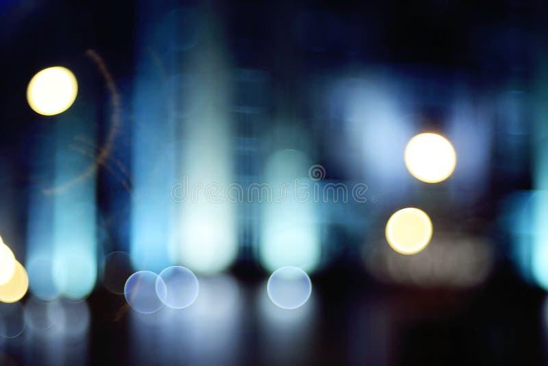 Φω'τα νύχτας θαμπάδων υποβάθρου στοκ φωτογραφία με δικαίωμα ελεύθερης χρήσης