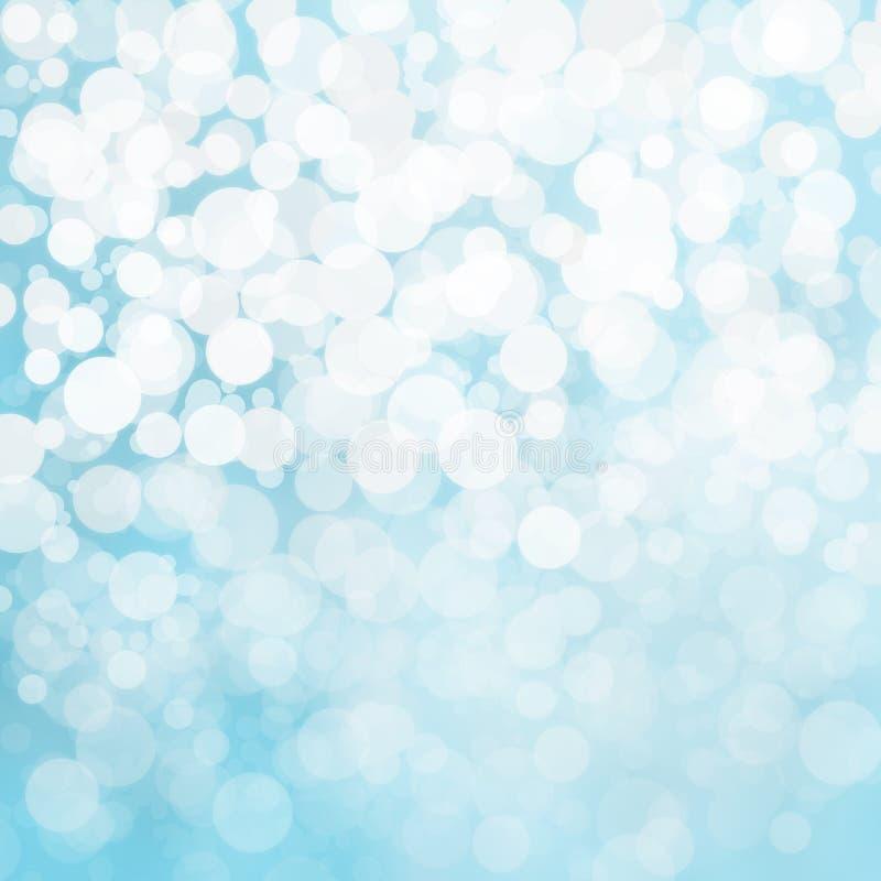 Φω'τα χιονιού Defocused στο μπλε υπόβαθρο ελεύθερη απεικόνιση δικαιώματος