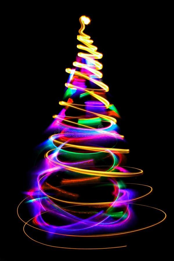 Φω'τα Χριστουγέννων ως χριστουγεννιάτικο δέντρο απεικόνιση αποθεμάτων