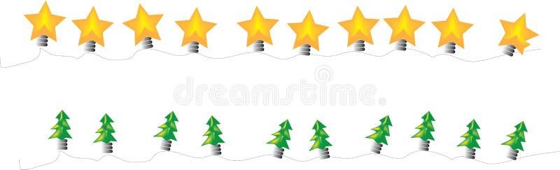 Φω'τα Χριστουγέννων διανυσματική απεικόνιση