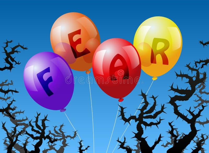 Φόβος μπαλονιών διανυσματική απεικόνιση