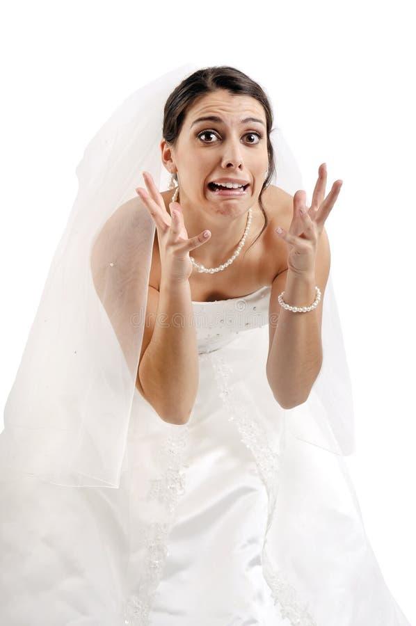 Φόβος νύφης… στοκ φωτογραφία με δικαίωμα ελεύθερης χρήσης