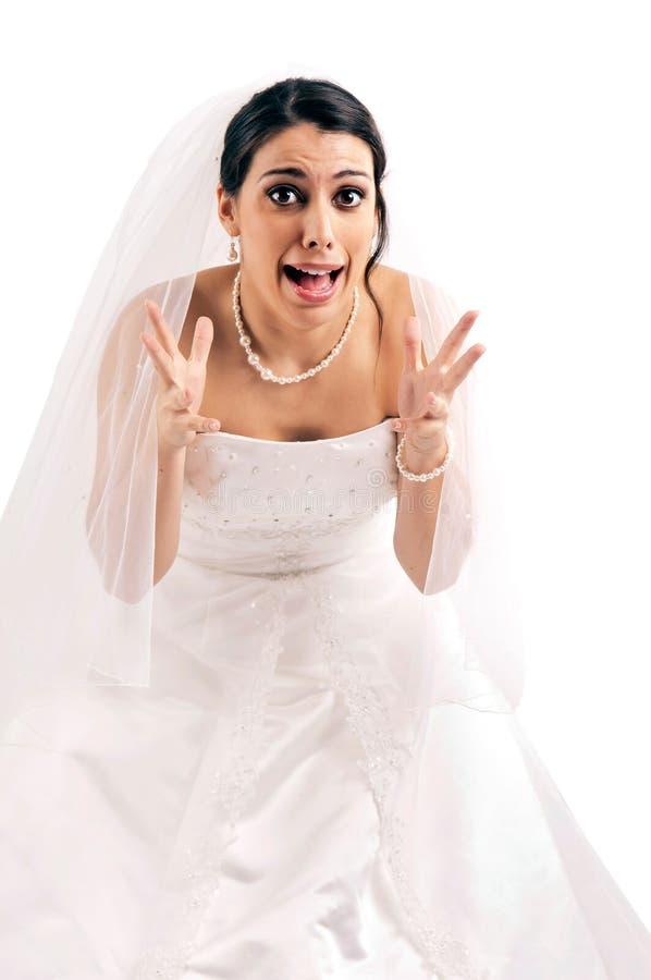 Φόβος νύφης… στοκ φωτογραφία