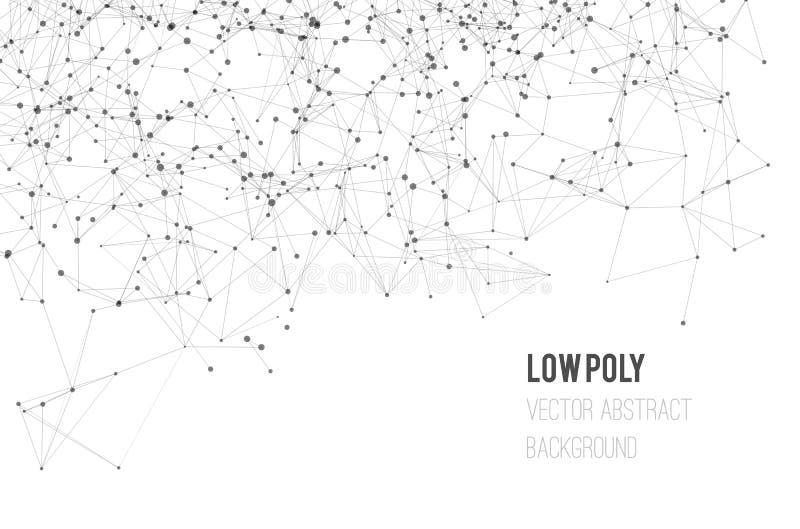 Φόντο αφηρημένου δικτυώματος με κύκλους, γραμμές και σχήματα ελεύθερη απεικόνιση δικαιώματος