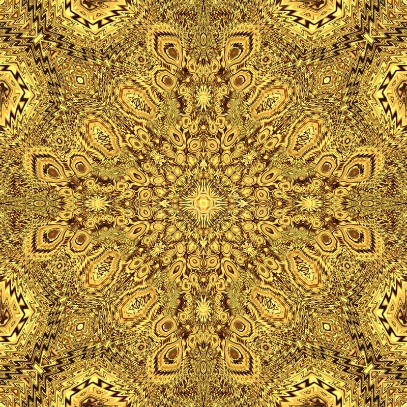 Φόντο κλασμάτων χρυσού και γυαλιστερή υφή για σχεδίαση, διακοσμητική συμμετρία στοκ εικόνα με δικαίωμα ελεύθερης χρήσης