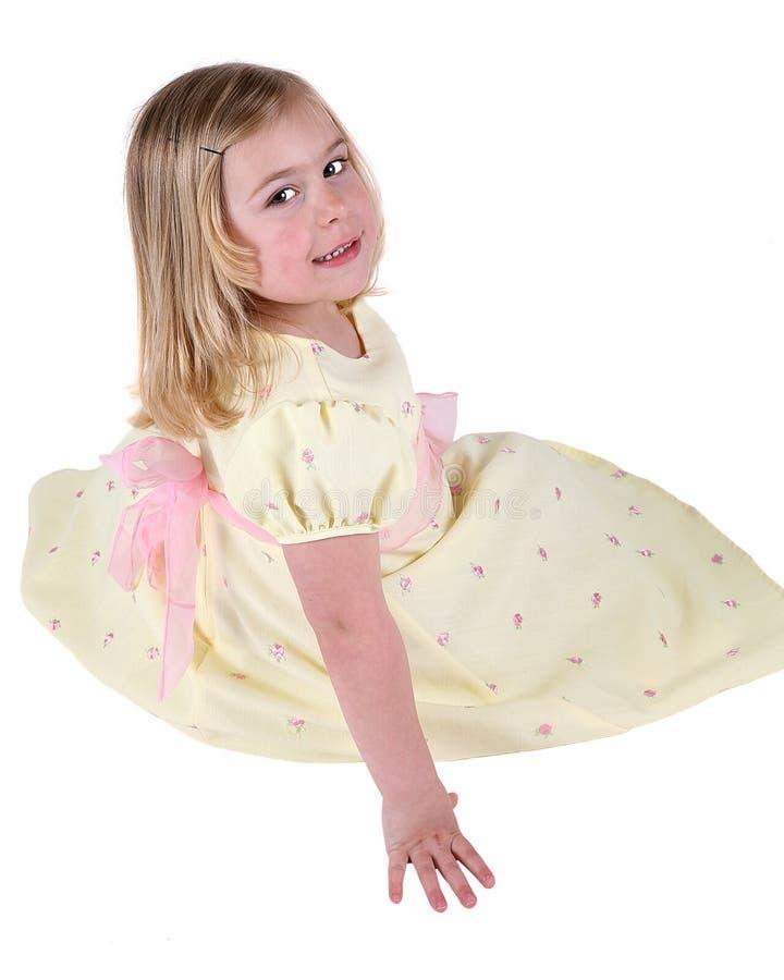φόρεμα εννέα κίτρινο στοκ εικόνες