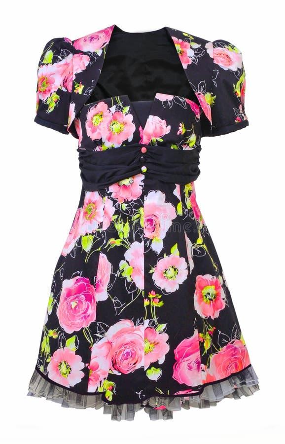 Φόρεμα με τα ρόδινα τριαντάφυλλα στοκ φωτογραφία με δικαίωμα ελεύθερης χρήσης