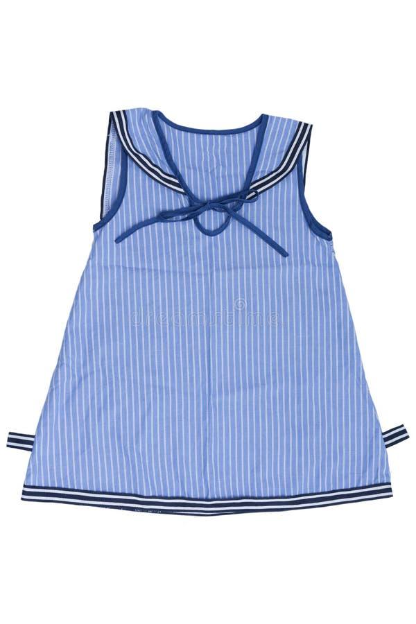 Φόρεμα μωρών ναυτικού που απομονώνεται στο άσπρο υπόβαθρο στοκ εικόνες