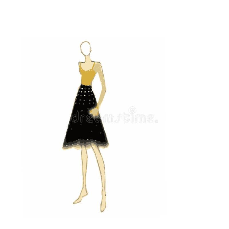 Φόρεμα μόδας στοκ φωτογραφίες