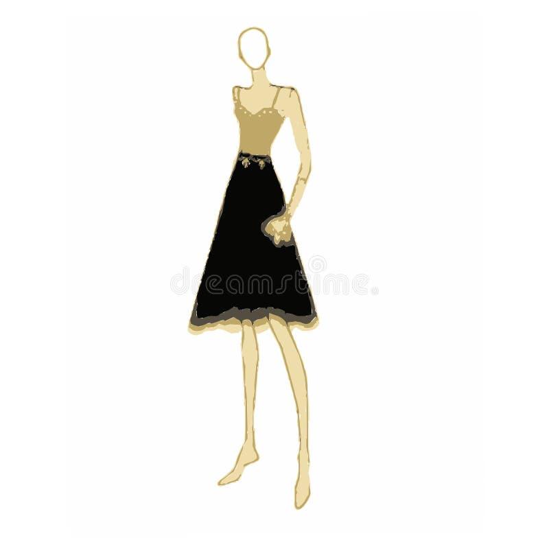Φόρεμα μόδας στοκ εικόνες
