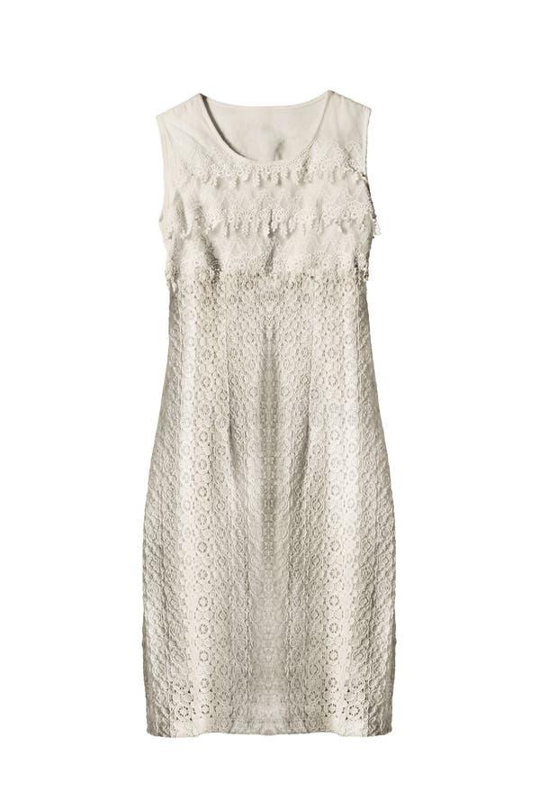 Φόρεμα που απομονώνεται δαντελλωτός στοκ εικόνες με δικαίωμα ελεύθερης χρήσης