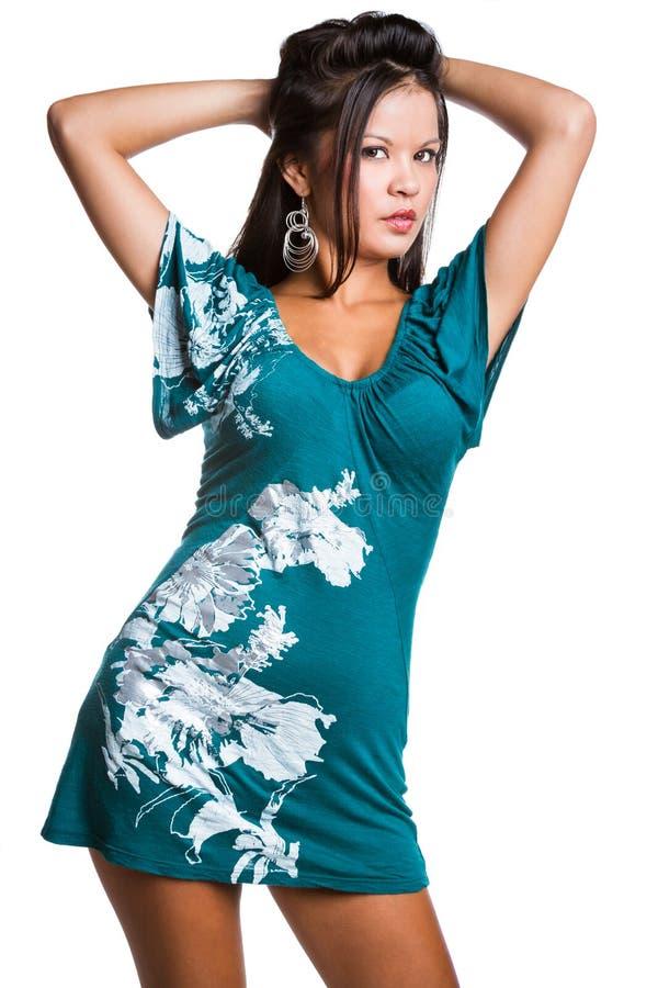 φόρεμα που φορά τη γυναίκα στοκ εικόνα με δικαίωμα ελεύθερης χρήσης