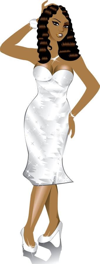 φόρεμα 2 επίσημο διανυσματική απεικόνιση