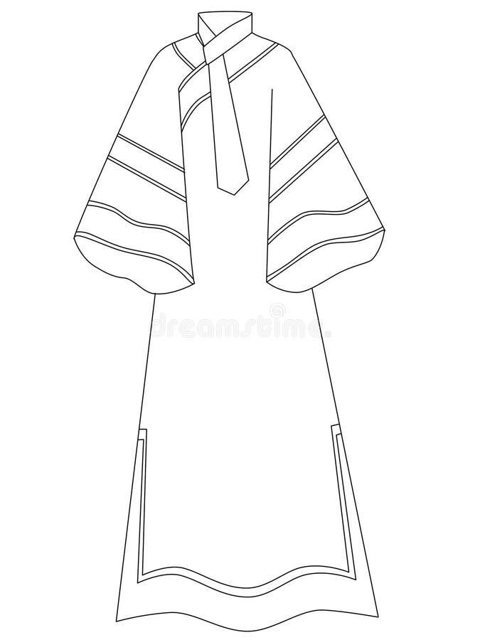φόρεμα διανυσματική απεικόνιση