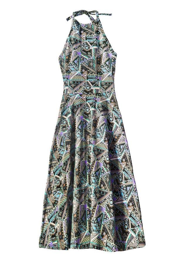 Φόρεμα Halter που απομονώνεται στοκ φωτογραφία