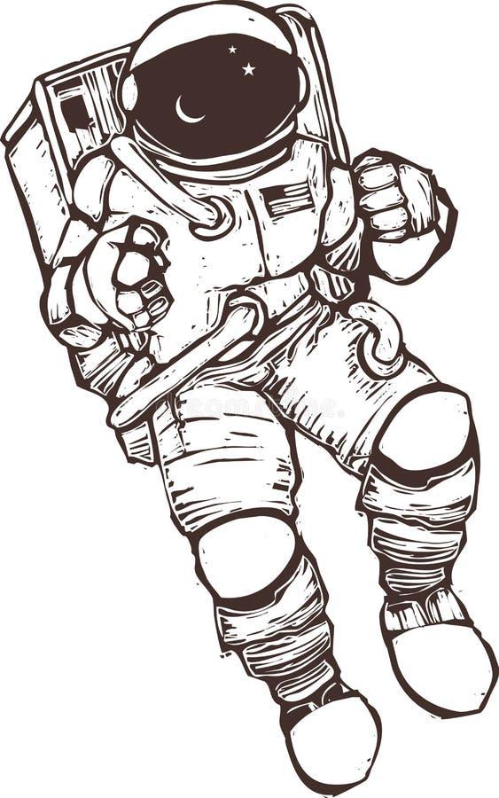φόρμα αστροναύτη διανυσματική απεικόνιση