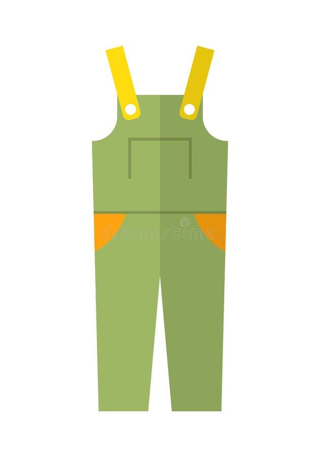 Φόρμα, προστατευτική ενδυμασία Επίπεδο εικονίδιο χρώματος, αντικείμενο για το σχέδιο απεικόνιση απεικόνιση αποθεμάτων