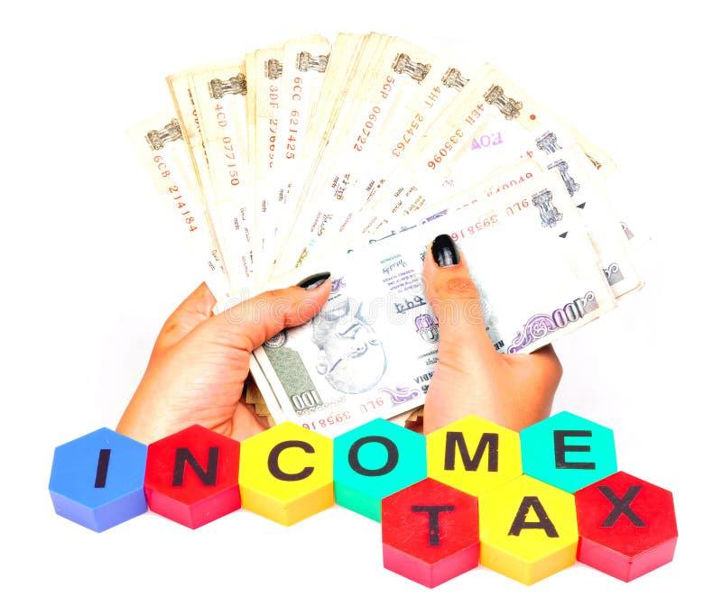 φόρος εισοδήματος στοκ εικόνα