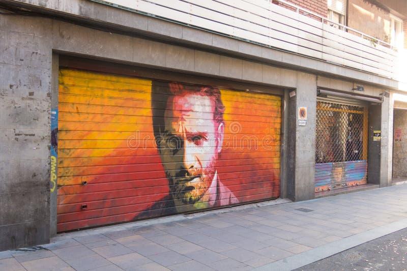 Φόρος στο δράστη Andrew Λίνκολν στην προσωπικότητα Rick Gri στοκ εικόνες με δικαίωμα ελεύθερης χρήσης