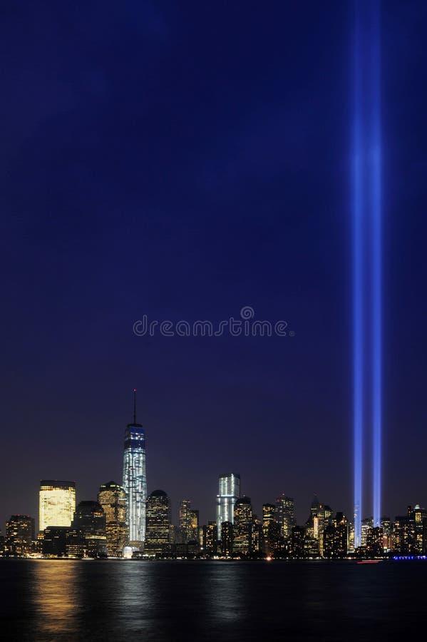 Φόρος στο φως 9/11 Μανχάταν 2013 στοκ εικόνες με δικαίωμα ελεύθερης χρήσης