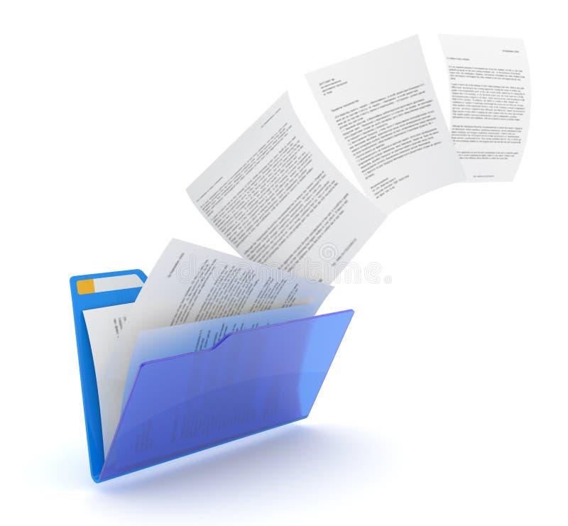 φόρτωμα εγγράφων διανυσματική απεικόνιση