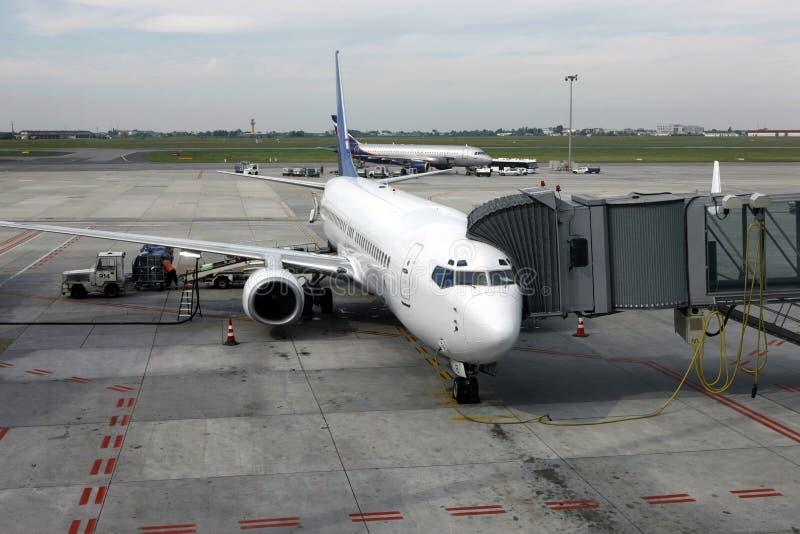 φόρτωση φορτίου Boeing στοκ φωτογραφίες με δικαίωμα ελεύθερης χρήσης