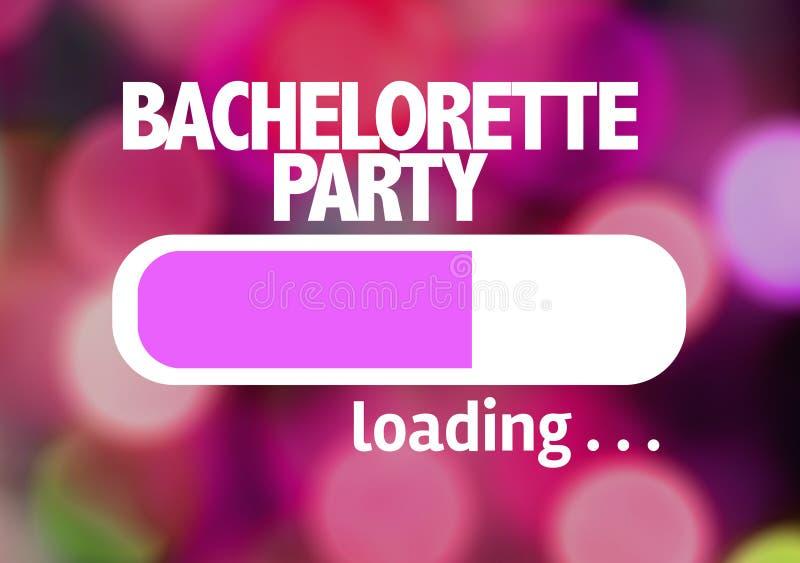 Φόρτωση φραγμών προόδου με το κείμενο: Κόμμα Bachelorette στοκ εικόνες