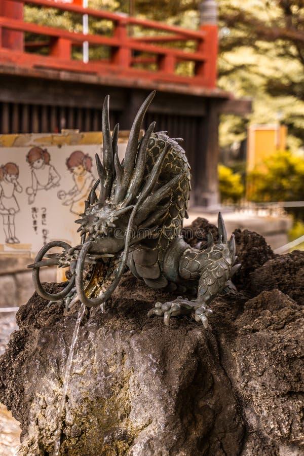 Φύλακας δράκων του ναού ueno στοκ φωτογραφία