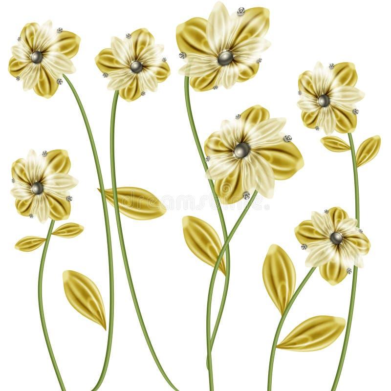 φύλλα λουλουδιών διανυσματική απεικόνιση